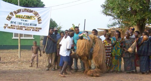 Traditional dancers from Njala