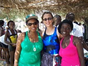 Halima, director of the women's center and Doris, secretary of the ELCSL