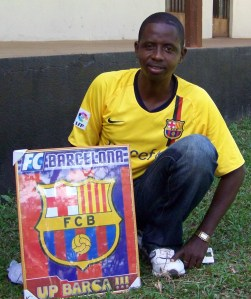 LWF staff member Saiku Leigh was in the minority as a supporter of the Barcelona team