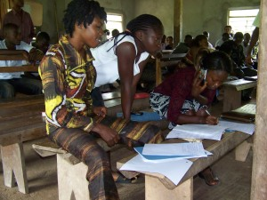 Young people in Sierra Leone love their cell phones like youth everywhere.