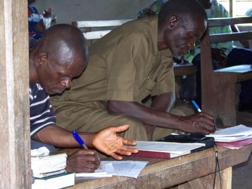 Evangelist Wilfred Kamara and Pastor Edward Lavally